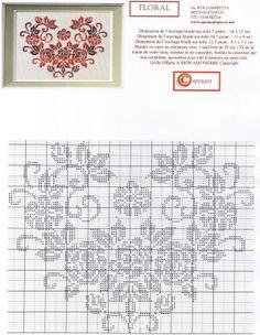 Points de croix *<3* Cross stitch floral heart wreath
