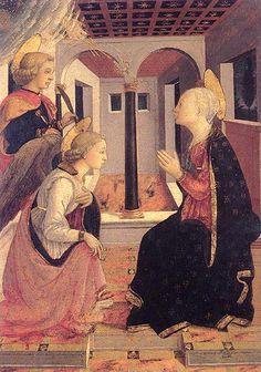 Lippi e aiuti, annunciazione con san giuliano, prato, 1455 ca..jpg