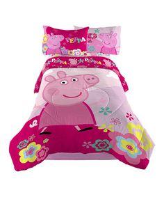 Peppa Pig Tweet Tweet Oink Twin Comforter by Peppa Pig #zulilyfinds