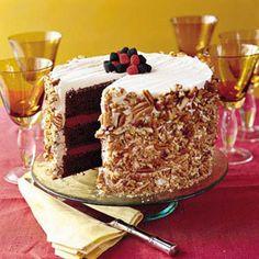 Luscious Layer Cakes   Blackberry-Raspberry Truffle Cake   SouthernLiving.com