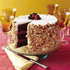 Blackberry-Raspberry Truffle Cake | Luscious Layer Cakes - Southern Living Mobile