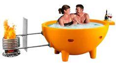 Fire Hot Tub- Wood Burning Tub LB  LIGHT BLUE #FireHotTub
