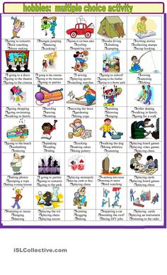 Hobbies and pastimes multiple choice activities. ESL worksheet of the day by sylviepieddaignel on April 19, 2015