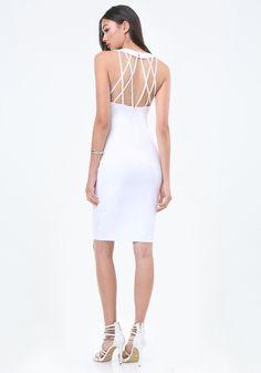 Back Crisscross Strap Dress