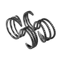 #MelissaKayeJewelry Cris #ring in #18k black #gold with #diamonds #jewelry #finejewelry #blackgold #blackdiamonds #fashion #style