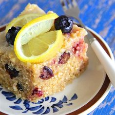 "Blueberry Quinoa with Lemon Glaze I  ""A unique and delicious breakfast!"""