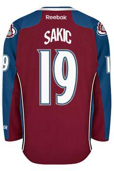 b73c88c28c3 Colorado Avalanche VINTAGE Joe SAKIC  19  C  Official Home Reebok Premier  Replica NHL