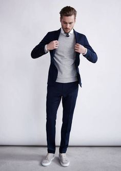 Blazer + sweater + Sneakers = Spring Style 2016 — Men's Fashion Blog - #TheUnstitchd #MensFashion