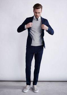 Blazer + sweater + Sneakers = Spring Style 2016 — Men's Fashion Blog - #TheUnstitchd #MensFashion