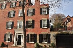 JFK lived in this house with his sister Eunice Kennedy, while he was a congressman. Source: http://www.pinkpillbox.com/jfkhomes.htm