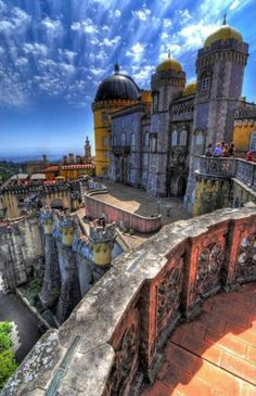 Sintra , Portugal Pena Palace- so beautiful.  Wish my pics looked this good!