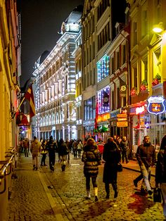 Riga at night, Latvia -- @Heather Creswell Creswell DiNapoli