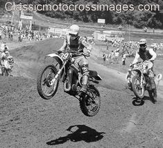Classic Motocross Images - Photos of National and International Motocross racing from the early days of racing in the United States. Motocross Tracks, Motocross Riders, Mx Racing, Vintage Motocross, Dual Sport, Motorcycle Art, Vintage Bikes, Dirt Bikes, The Good Old Days