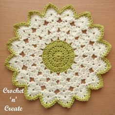 Make this crochet round doily uk pattern for the furniture around your home, it's made with a pretty shell edge, it will compliment your decor ...........