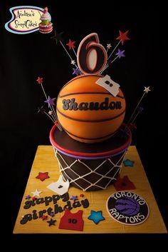 Toronto Raptors Basketball cake | by Andrea's SweetCakes