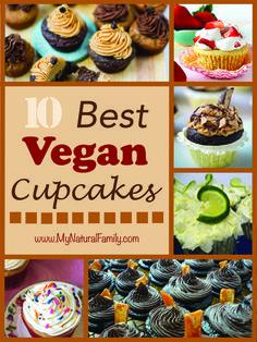 10 Best Vegan Cupcakes Recipes - MyNaturalFamily.com #vegan #cupcakes #recipes