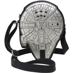 Loungefly Star Wars Millenium Falcon Crossbody Bag Hot Topic (€52) ❤ liked on Polyvore featuring bags, handbags, shoulder bags, crossbody shoulder bags, white handbags, white crossbody handbags, white shoulder bag and white hand bags