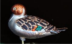 Pintail Duck Glass Christmas Ornament