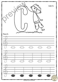 Blues Piano Lessons A set of 26 music worksheets is created to help your students learn to trace, copy, color and draw notes on the staff {Treble pitch}. {C first – A second octaves} Music Lessons For Kids, Singing Lessons, Music For Kids, Learning Music Notes, Music Education, Music Worksheets, Worksheets For Kids, Violin Lessons, Piano Teaching