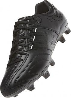 Der Adidas adiPure 11pro TRX FG Fußballschuhe im komplett schwarzen Design. Adidas Fußballschuhe aus feinem Leder