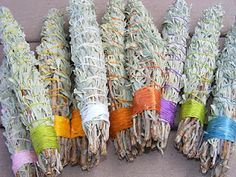 Smudge sticks are used in traditional Native American ceremonies to purify people and places. There are similar ceremonies in many cultures where herbs are burned for cleansing. Smudging can be used to counteract depression, anger or bitterness. If you would like to try smudging, it is very easy to make your own sage smudge sticks. They smell wonderful.