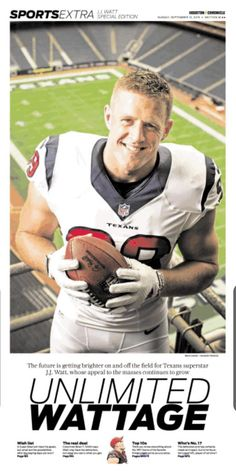 .@JJWatt has his own special section in today's @HoustonChron. #Texans