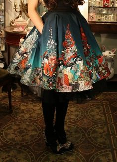 I'm soo in love with this skirt! The colors, the shape... Pockets!