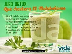 Jugo detox que acelera el metabolismo - Vida Lúcida