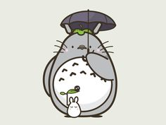 Sticker Mule Wall Graphic: Totoro
