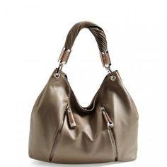 40% off Michael Kors - Leather Hobo Bag Fumo Tonne Dark Grey - $596.98