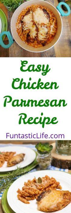 Easy Chicken Parmesan Recipe #Recipe #chickenrecipes #pastarecipes