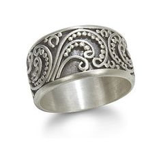 Peaceful Paisley Silver Ring - Satya Jewelry - Polyvore