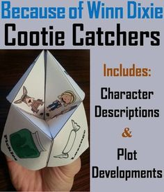 These are a great way for students to have fun while learning about the characters and plot developments of the book: Because of Winn Dixie. How to Play and Assembly Instructions are included.These Cootie Catchers contain the following:1.