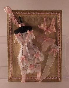 Ladies Boutique Langerie Display by Kath Knox - $59.95 : Swan House Miniatures, Artisan Miniatures for Dollhouses and Roomboxes