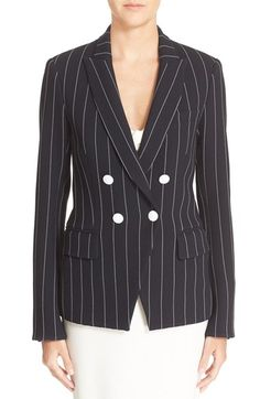 Veronica Beard 'Daytona' Pinstripe Cutaway Blazer available at #Nordstrom