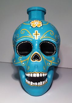 Hand Painted Day of The Dead by LissasLittleDoodles on Etsy