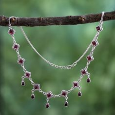 Home Decor, Jewelry & Gifts by Talented Artisans Worldwide Silver Anklets Designs, Anklet Designs, Garnet Necklace, Incredible India, Necklaces, Bracelets, Passport, Silver Jewelry, The Incredibles