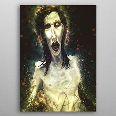 Mr Superstar Caricature by Abraham Szomor | metal posters - Displate