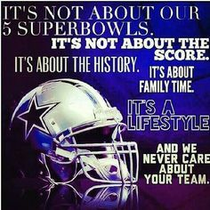 Omg i frikkin love this. We aint like other teams fans. We're Dallas Cowboys Fans! Dallas Cowboys Posters, Dallas Cowboys Funny, Cowboys Win, Dallas Cowboys Wallpaper, Dallas Cowboys Pictures, Dallas Cowboys Football, Football Memes, Football Team, Nfl Dallas