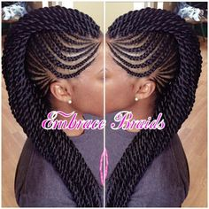 "565 Likes, 33 Comments - Master Braider Embra bka Em  (@embracebraids) on Instagram: ""Mohawk ❤️ #braids #mohawk #braidedmohawk #scalpbraids #cornrows #feedinbraids #braidedupdo…"""