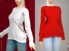Rouge Sweater VI & VII by Heavendy-cc for The Sims 4