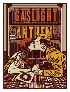 The Gaslight Anthem - Washington, DC - 2012 - Screen print gig poster. $30.00, via Etsy.