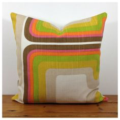 Vintage1970s Funky Graphic Cushion Cover Lined & Backed by Retro68