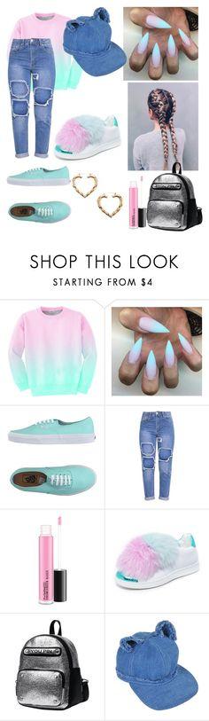 """Cotton candy"" by queenbeeslayz ❤ liked on Polyvore featuring Aloha From Deer, Vans, Joshua's, Karl Lagerfeld and Forever 21"