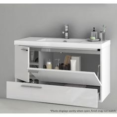 """Bathroom Vanity, ACF ANS33, 39 Inch Vanity Cabinet With Fitted Sink ANS33 - H: 21.8"""" D: 17.7"""" W: 39.2"""" $2175"""
