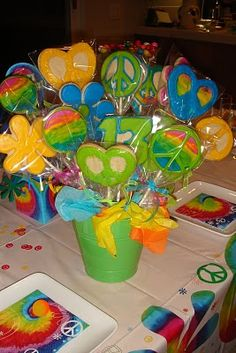 hippie party... Cute take home idea