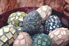 Mosaic eggs by Donna Avery  Photo by Ron Avery