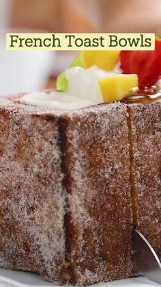 Fun Baking Recipes, Brunch Recipes, Sweet Recipes, Snack Recipes, Dessert Recipes, Cooking Recipes, Tasty Videos, Food Videos, Cooking Videos