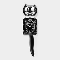 Kit-Cat Clock | MoMAstore.org  - the one I want is the black one with rhinestones, though this clock is iconic - since 1932 -with every tick the eyes roll and tail wags back and forth. https://www.kit-cat.com/kit-cat-world/kit-cat-history/