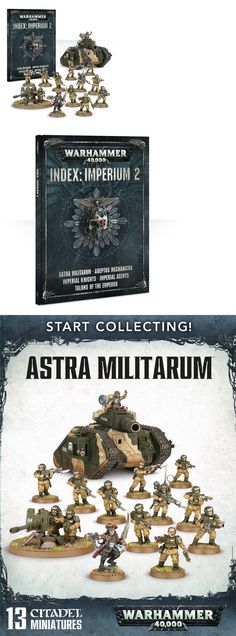 40K Rulebooks and Publications 90944: Astra Militarum Starter Collection English Imperium Vol. 2 Index + Miniatures -> BUY IT NOW ONLY: $85 on eBay!
